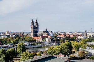 Panorama Aussicht auf Magdeburg
