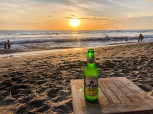 Sunset and beer at the beach