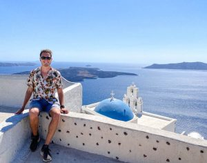 Viewpoint in Santorini